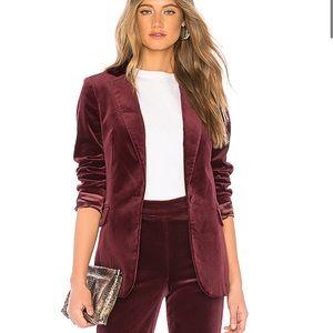 Frame classic velvet blazer in Pinot size 8 new